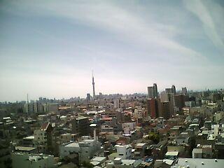 東京都葛飾区友人宅マンションシャックからの展望
